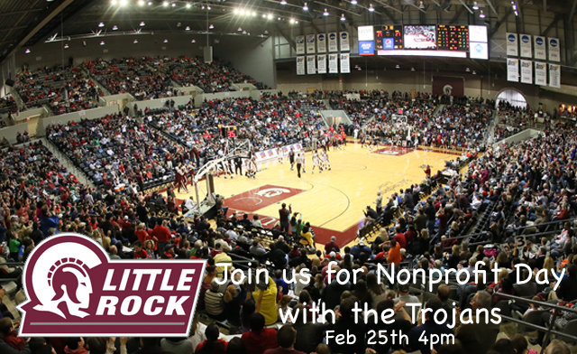 JLNLR Nonprofit Day with the UA Little Rock Trojans – Get Your Tickets Today!!!